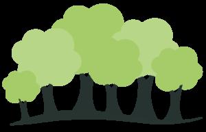 Eichenthal Ferienhaus Eikenbomen illustratie